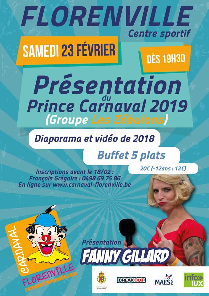 Soirée de présentation du Prince 2019 Carnaval de Florenville