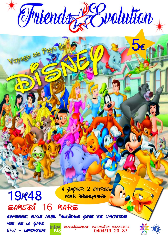 Friends évolution vous fais voyager au pays de Disney