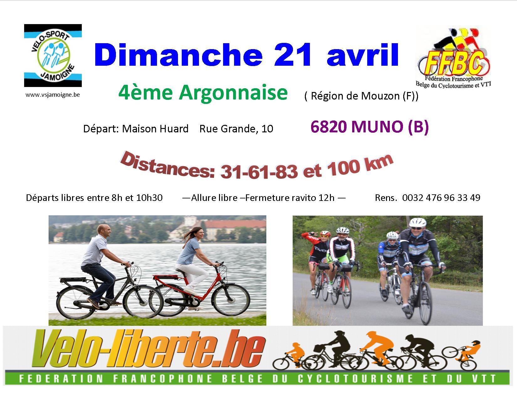 Randonnées Cyclos Jamoigne