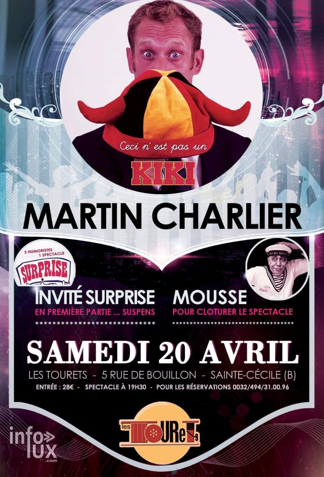 Les Tourets karaoké, Cabaret :Martin Charlier