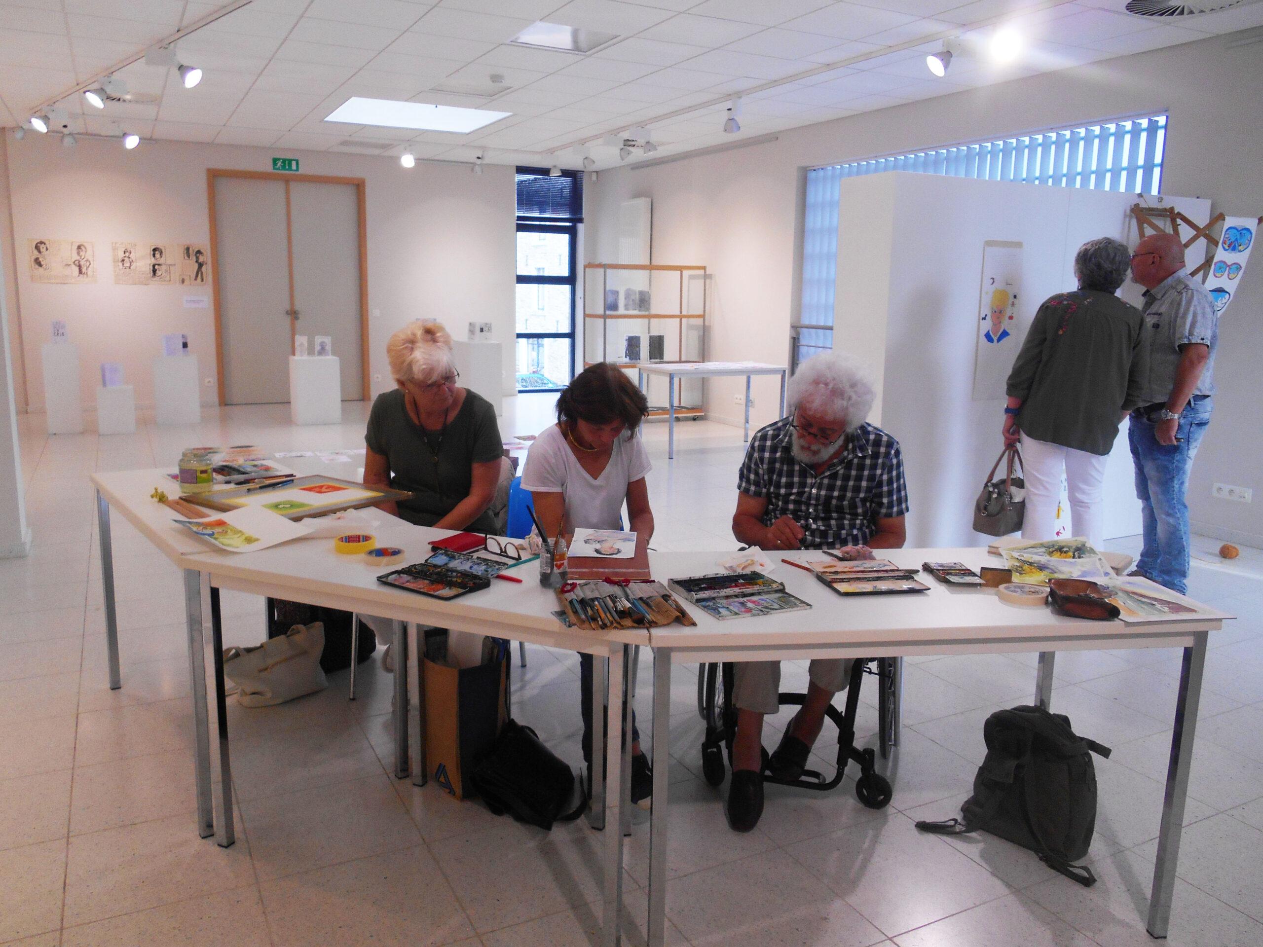 Exposition des travaux des ateliers créatifs à Bertrix