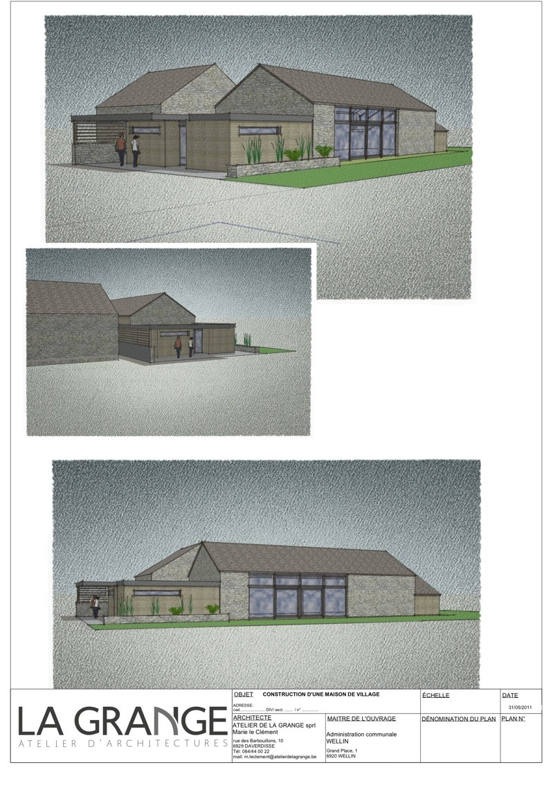 PCDR de Wellin : construction d'une maison de village à Halma