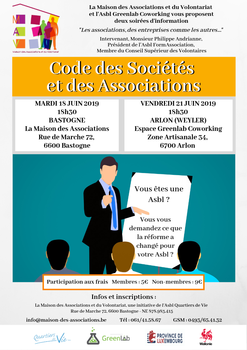 Code des Sociétés et des Associations – Bastogne – Arlon