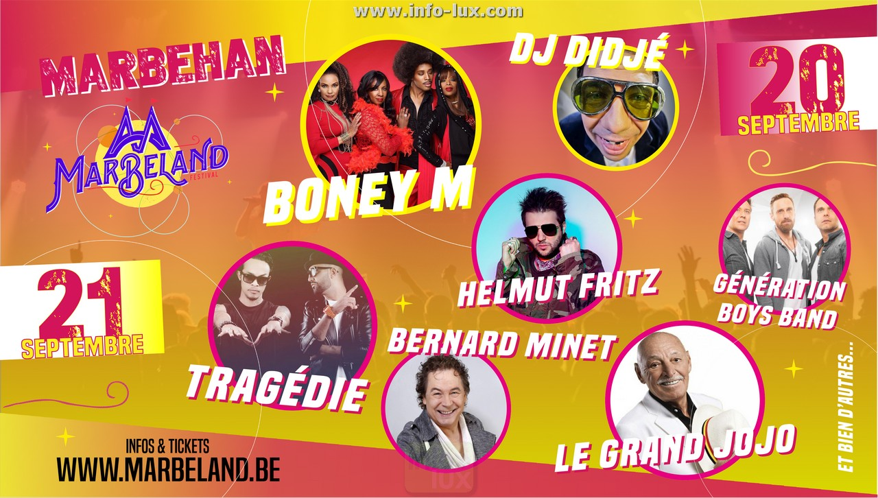BoneyM, Tragédie, Le Grand Jojo… à Marbehan