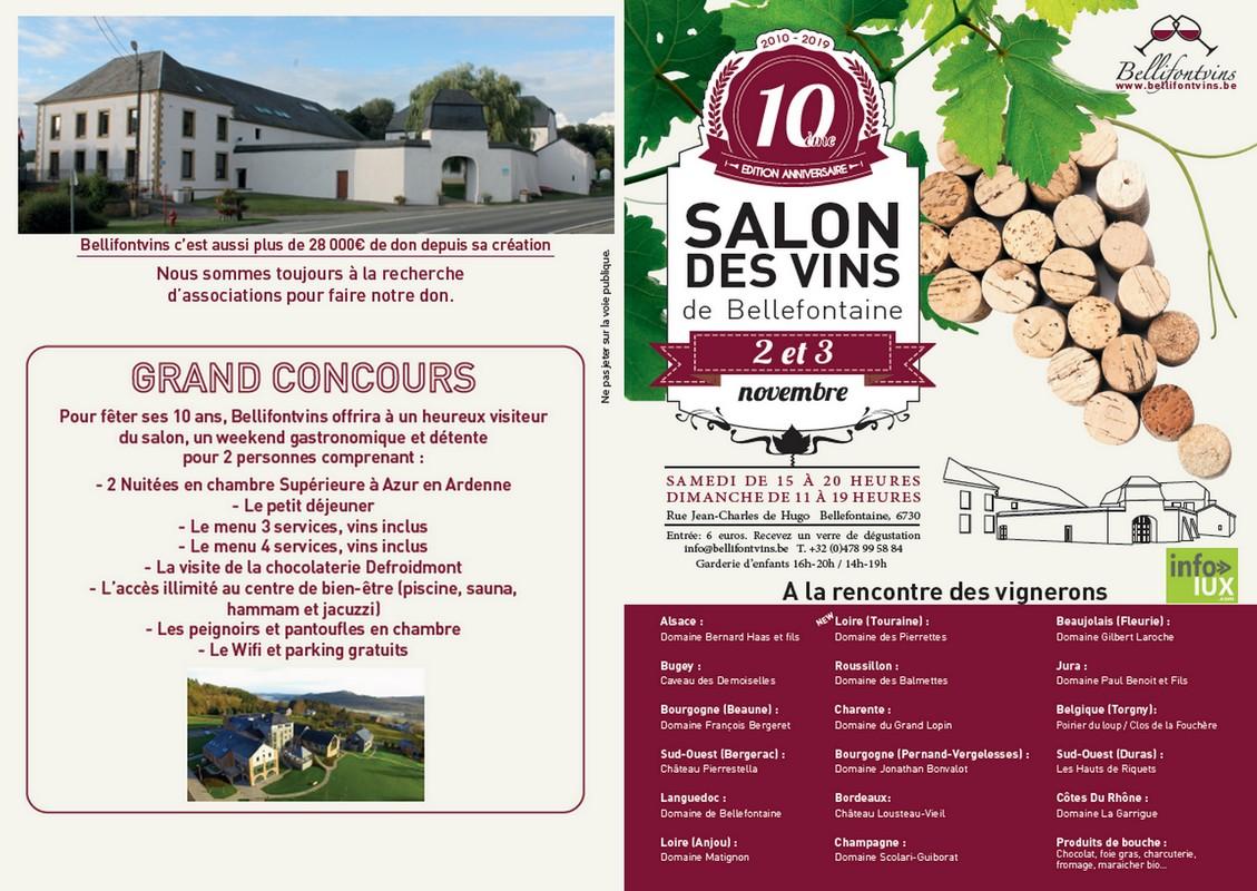 10ème SALON DES VINS DE BELLEFONTAINE