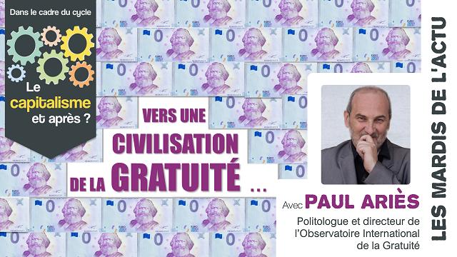 Conférence :  civilisation de la gratuité – Arlon
