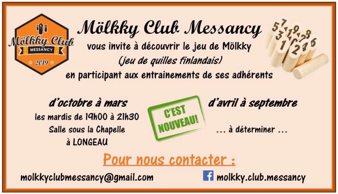 Unique en province de Luxembourg Mölkky club Messancy