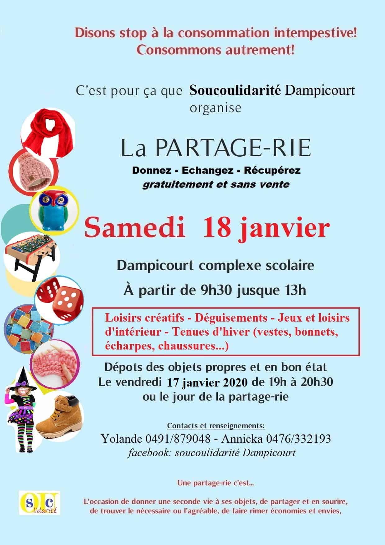 Dampicourt : Partage-Rie de janvier