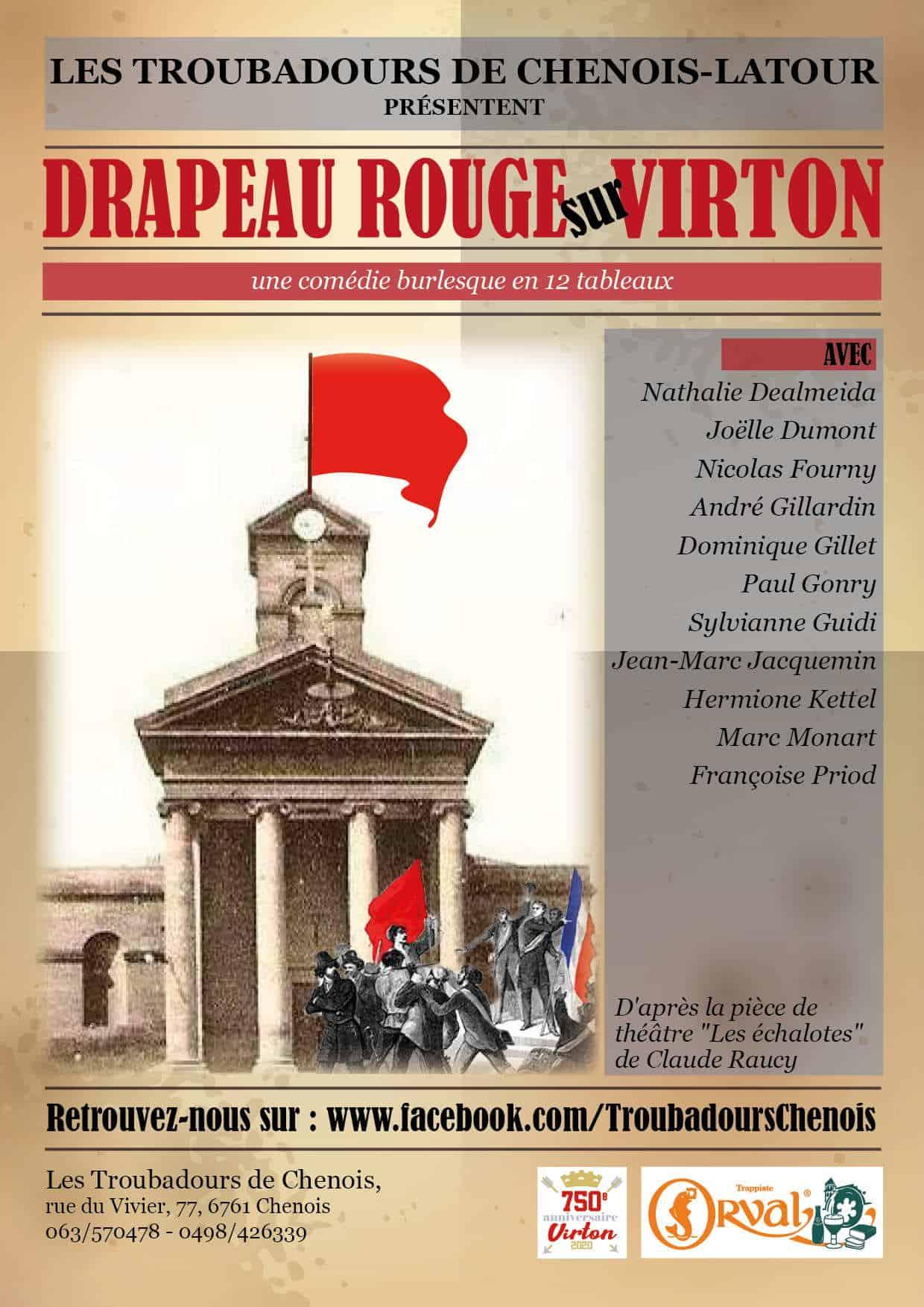 Theâtre «Drapeau Rouge sur Virton» à la chenois
