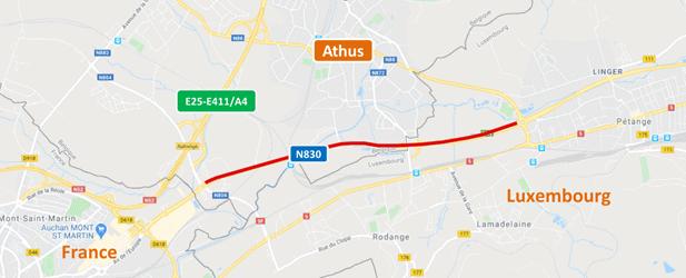 Aubange: fermeture de deux semaines du  carrefour N830