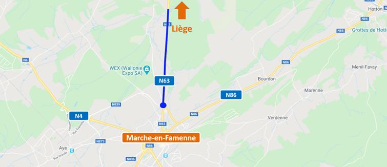 N63 – Réhabilitation du revêtement entre Marche-en-Famenne et Baillonville
