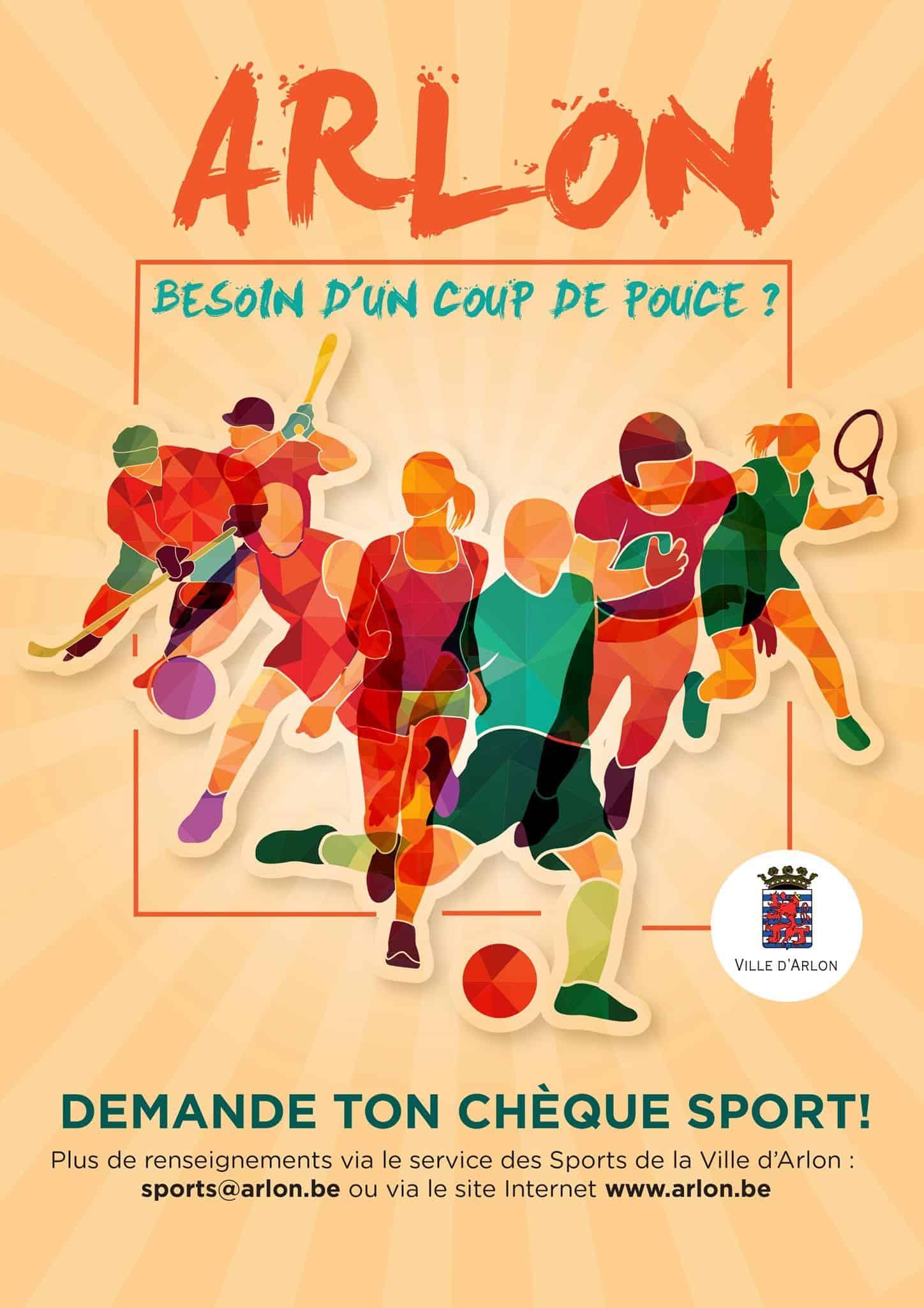chèque sport et la quinzaine du sport à Arlon