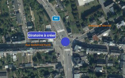 N4 Arlon – chantier d'aménagement d'un giratoire au carrefour Liedel : nouvelles mesures pour sécuriser la circulation