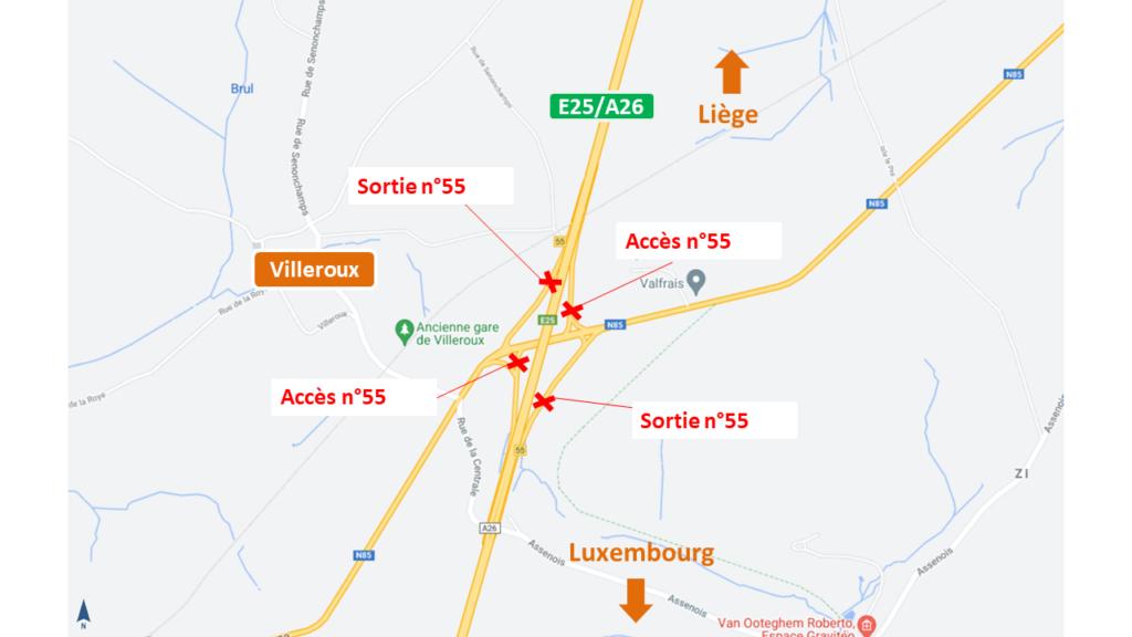 autoroute E25/A26 Sortie Villeroux