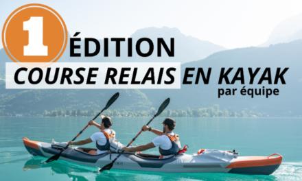 Course relais en Kayak