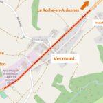N89 - Vecmont: Réfection des revêtements entre le Parc d'activité IDELUX et Ronchampay